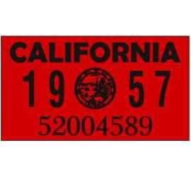 Year 1957 Sticker for US...