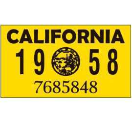 Year 1958 Sticker for US...
