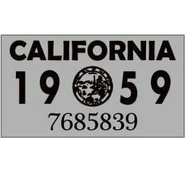 Year 1959 Sticker for US...
