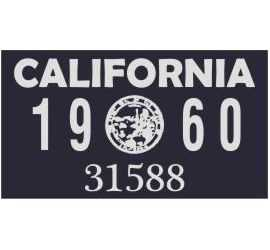 Year 1960 Sticker for US...