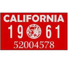 Year 1961 Sticker for US...