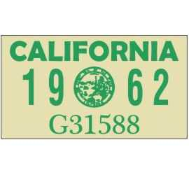Year 1962 Sticker for US...