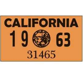 Year 1963 Sticker for US...