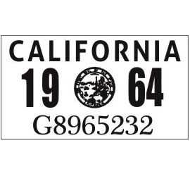 Year 1964 Sticker for US...