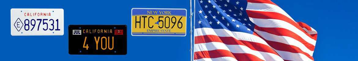 USA/State License Plates